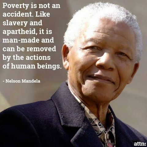 mandela on poverty