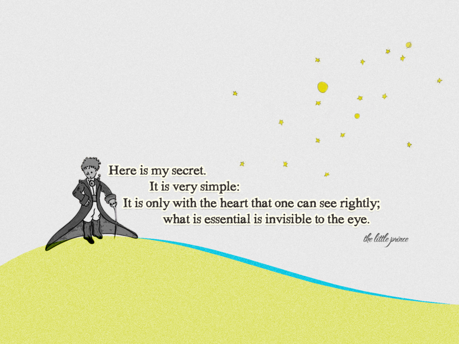 little prince only with the heart